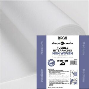 Birch Shape to Create IRON ON Interfacing Medium - per metre