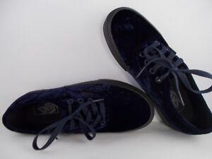VANS-Authentic-Velvet-Navy-Black-Skateboarding-Shoes-Men-039-s-Size-5-5-New-In-Box