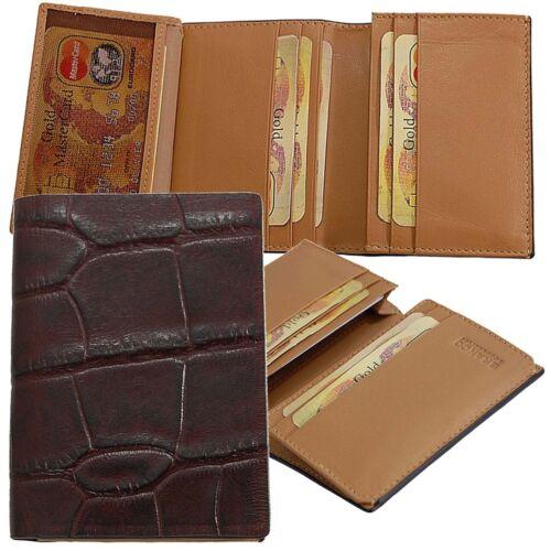 Branco Exklusive Croco Kreditkartenmappe Kartenetui Leder Kartenhülle 80868 neu