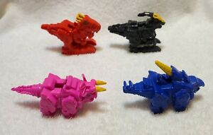 LOT OF 4 SCG POWER RANGERS DINO CHARGE - PINK - BLUE - RED - BLACK~NO CHARGERS