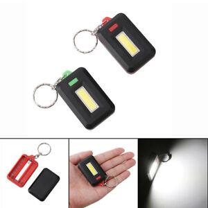 Mini LED COB Flashlight Waterproof Portable Keychain Torch Light Camping La HH