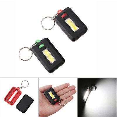 Mini Portable 3Modes Pocket COB Worklight Light LED Flashlight Torch Keychain CL