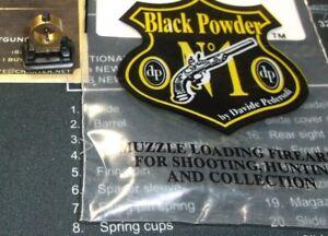 Details about D Pedersoli Front Folding Globe Sight Creedmore Sharps  Rolling Lever Gun Parts