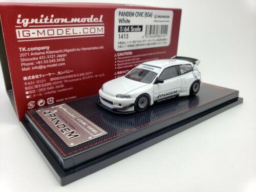 1:64 ignition Honda Civic EG6 pandem Blanc JDM IG1415 édition limitée nouveau modèle