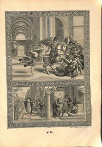 10e-Commandement-Heliodore-general-Seleucus-Syrie-Catechisme-Bible-GRAVURE-1908