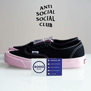18702a6eed Anti Social Social Club x Vans Vault x DSM Authentic Lx ASSC - Black ...