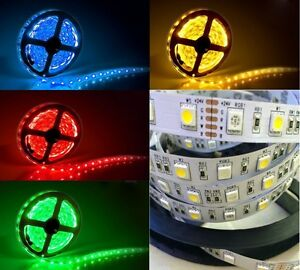 5m-24V-Led-RGBW-RGBWW-RGB-WW-Strip-Streifen-IP20-SMD5050-Dimmbar-300leds-19-2W-m