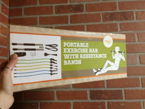 Strength Exercise Bar With Resistance Bands Home workout Yoga