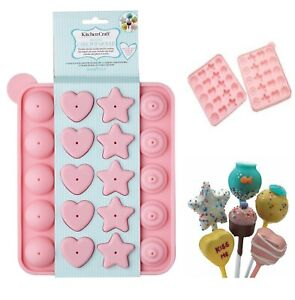 Assorted-Silicone-Cake-Pop-Lollipop-Non-Stick-Mould-Tray-Party-Cookware-Baking