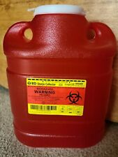 Bd Sharps 69 Quart Biohazard Needles Collector Container Red 305489 Free Ship