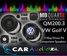 "MB Quart QM200.3 VW Golf V Custom Speaker Upgrade Component Kit 3 way 8"""