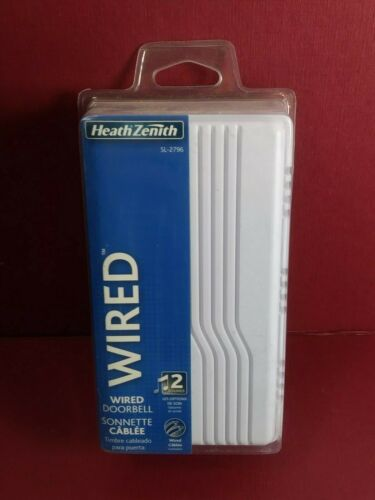 Heath Zenith SL-2796-02 Basic Series Wired Door Chime Door Bell White