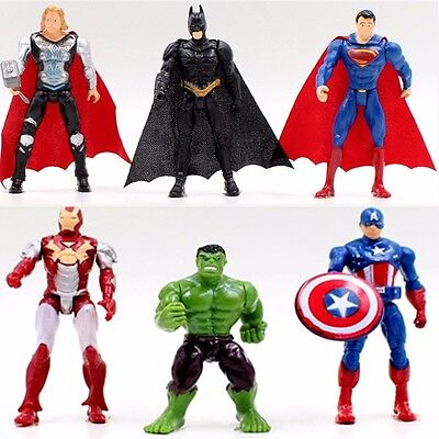 Superman SUPER HEROES Set 10 figuras Funko Pop Batman Hulk Iron Man figures