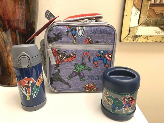 Pottery Barn Marvel Avenger Lunch Box Justice League Water