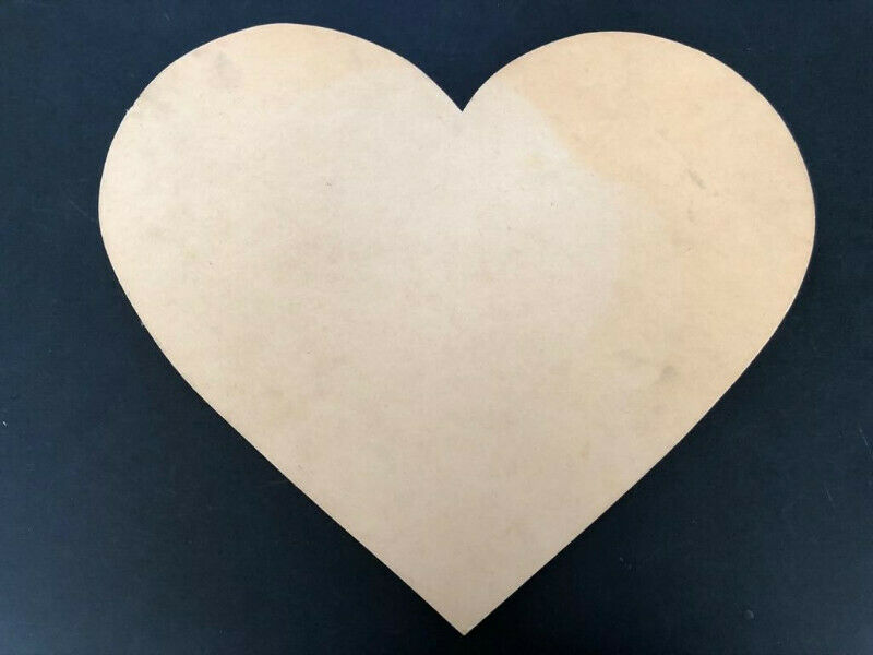 Large wooden heart - for art and craft project
