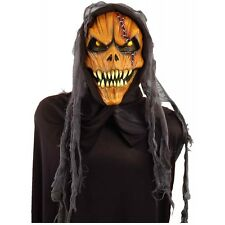 Hooded Pumpkin Costume Mask Adult Halloween