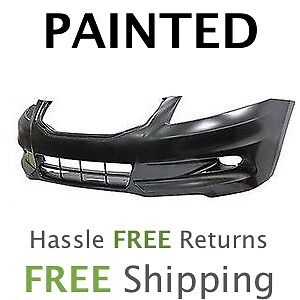Fits-2011-2012-Honda-Accord-Sedan-6cyl-Front-Bumper-COVER-PAINTED