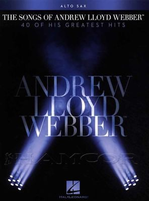 Active The Songs Of Andrew Lloyd Webber For Alto Saxophone Sheet Music Book Musical A Plastic Case Is Compartmentalized For Safe Storage
