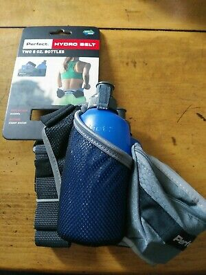 BPA Free Water Bottles 2 8 oz Perfect Fitness Hydro Hydration Jogging Belt