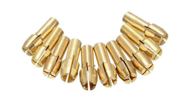10pcs 0.5-3.2mm Brass Drill Chuck Collet Bits 4mm Shank Rotary Power Tool Set
