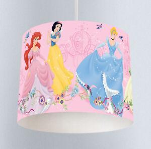 Details About Disney Princess 143 Girls Nursery Bedroom Drum Lampshade Light Shade