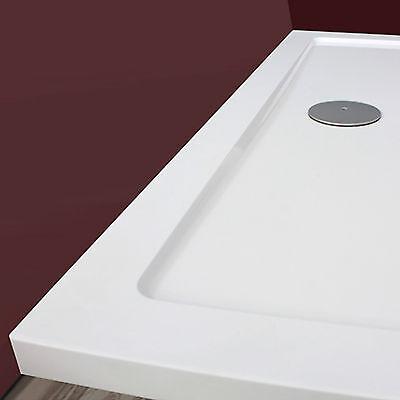 Piatto doccia acrilico ultra piatto 3,5 cm resistente antiscivolo design moderno