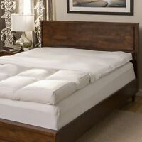 Queen Size 5-inch Featherbed Mattress Topper 230 Thread Count Baffled Set+cover