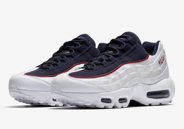 the best attitude 05628 9b158 WMNS Nike Air Max 95 LX White Blackened Blue Red Running ( Aa1103 100 )  Size 8
