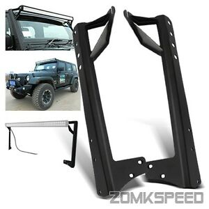 jeep wrangler jk 50 034 52 034 led light bar windshield top mounting. Black Bedroom Furniture Sets. Home Design Ideas
