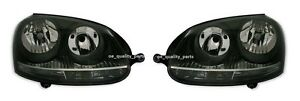 VW-Golf-V-MK5-Jetta-III-Black-Projector-2H7-H7-H7-Headlights-Headlamps-Set-Pair