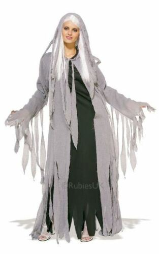 Adult Midnight Spirit Ladies Halloween Horror Fancy Dress Costume Party Outfit
