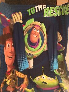 VGUC-50-x-38-Disney-Pixar-Toy-Story-Youth-Fleece-Throw-Blanket-w-Sleeves