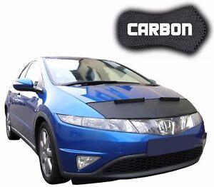 Protector-de-Capo-para-Honda-Civic-8-CARBON-Bra-Coche-mascara-Capo-Capucha