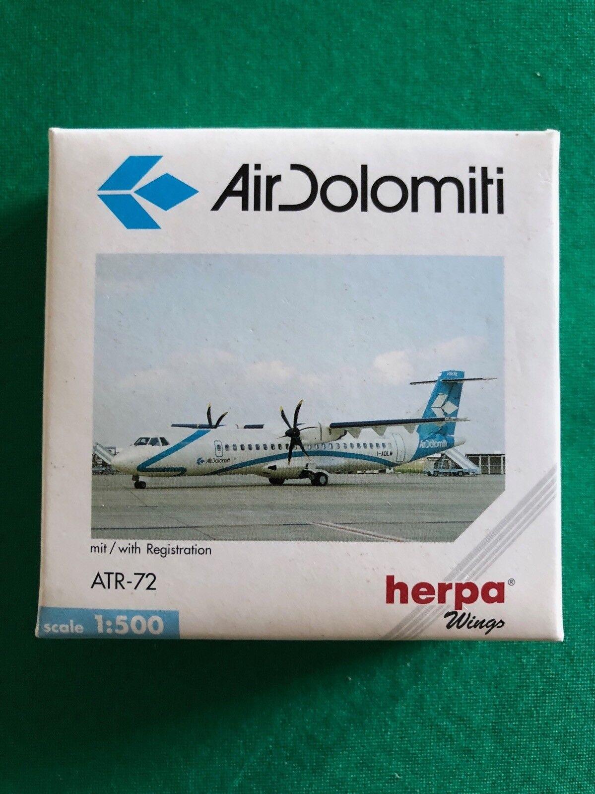 ATR-72 AirDolomiti. Herpa Wings 1 500 - Art.-Nr. 508025