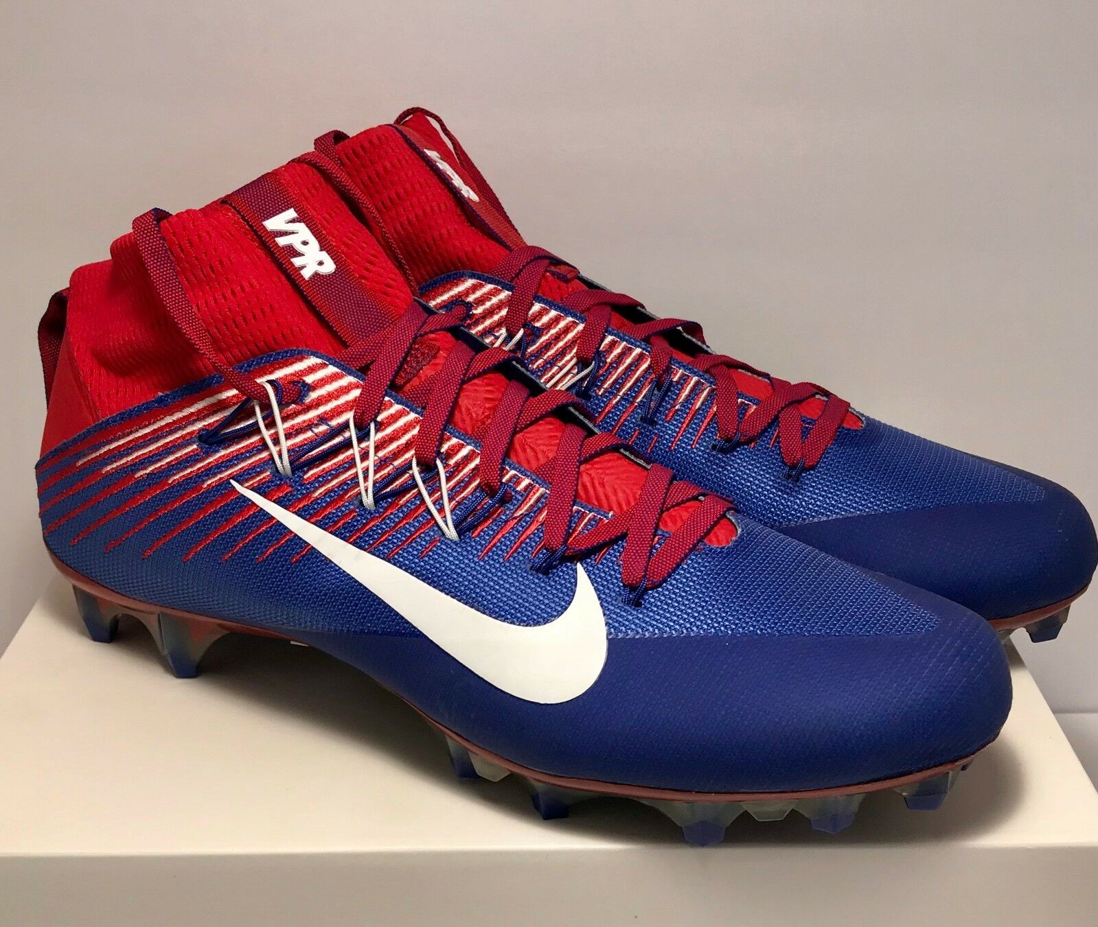 Nike Mens Size 13 Untouchable 2 Football Cleats bluee Red USA Rare New  200
