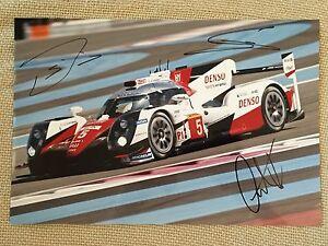 Davidson, Buemi, Nakajima Hand Signed Toyota 20x30 Photo 2016 Le Mans WEC 5. - Deutschland - Davidson, Buemi, Nakajima Hand Signed Toyota 20x30 Photo 2016 Le Mans WEC 5. - Deutschland
