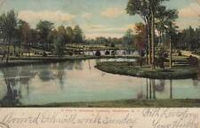 Antique POSTCARD c1907 View in Brookside Cemetery WATERTOWN, NY 17596