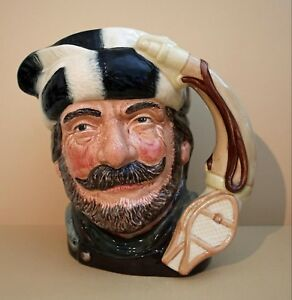 "Royal Doulton Character 7"" Jug:  The Trapper  Large, D 6609, 1966"