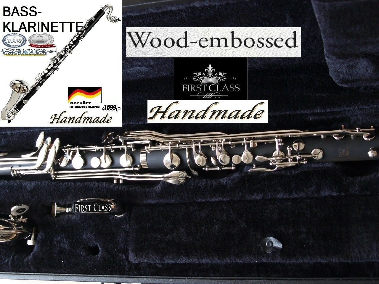 YAMA. Bass-Klarinette Böhm-System Bass Clarinet Clarinetto basso Clarinete bajo