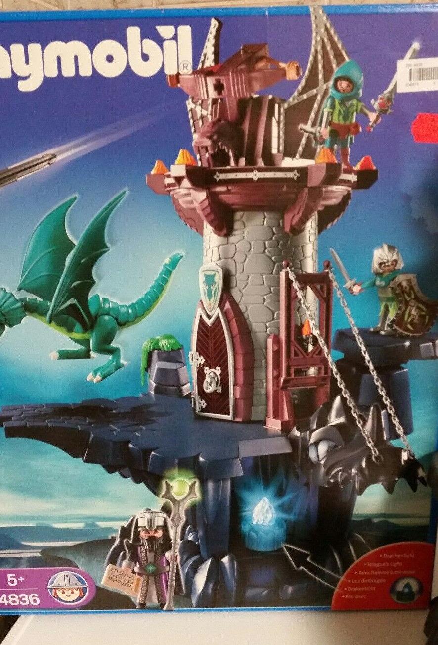 PLAYMOBIL 4836 Ritter Burg Drachen Elben Zauberer Festung Turm in OVP  wie neu