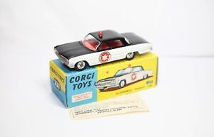 Corgi-237-Oldsmobile-Sheriff-Coche-En-Su-Caja-Original-Casi-Nuevo-Modelo-Vintage