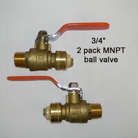 2  3/4 push fit x 3/4 mnpt sharkbite style ball valve