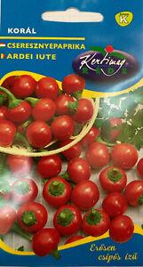 Rote Kirschpaprika scharf Paprikasamen Saatgut Paprika ca. 100 Korn Samen Korál