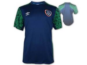Umbro Irland Training Jersey 20 21 blau FAI Ireland Fußball Fanshirt Eire S-3XL