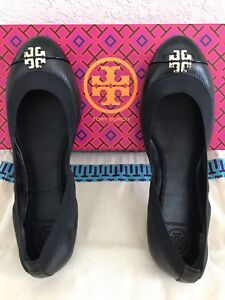 b78ab2a71d8 New Tory Burch Jolie Shoes Ballet Flats Black Size 6.5 Leather ...