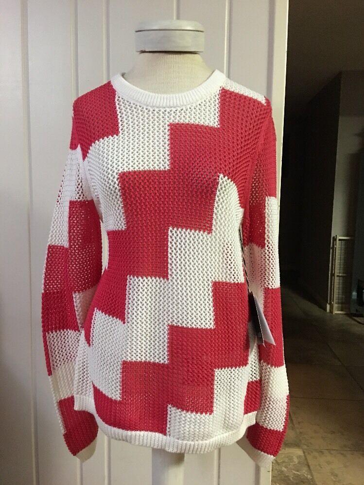CARLISLE Knit 100% Cotton SWEATER Crochet Boho Boho Boho NWT RV  325 Amazing Size Large L fbcc59