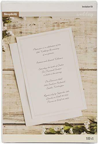 Wedding Invition Cards.Simplicity Ivory Wedding Invitation Cards With Envelopes 100pc 5 5 W X 8 5 L