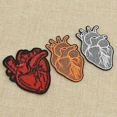 1Piece Embroidered Heart Surgeon Sew On Iron On Patch Badge Dress Craft Diy