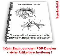 Handwebstuhl selbst bauen - Webstuhl Technik Patente Patentschriften