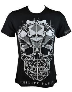 5abd0e1171 Philipp Plein 'Cryptic' Crew Neck T-Shirt Black (PPTS003) | eBay